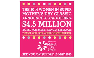 2014 Women in super mother's day classic poster