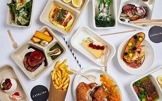 Fine-dining restaurant Catalina in Rose Bay has figured out its food packaging for home deliveries