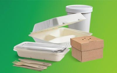 Takeaway packaging containers