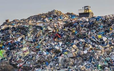 landfill pile