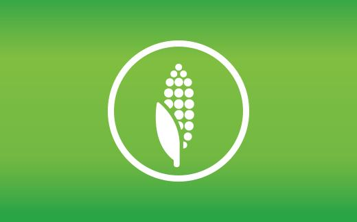 corn bioplastic icon