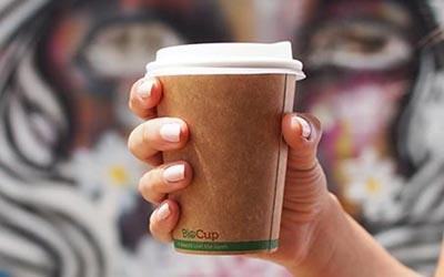 Recyclable coffee cup lifestyle