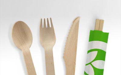 BioPak's wooden cutlery