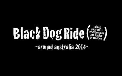 Black dog ride around Australia 2014