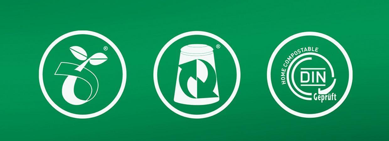 Commercial composting vs home composting logos