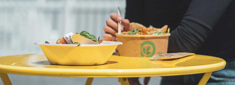 food-in-compostable-packaging