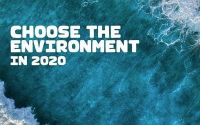Choose the environment in 2020 statement with blue sea as the background