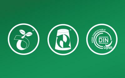 Commercial Composting vs. Home Composting icons
