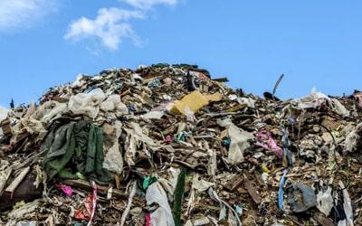 Garbage dumped in landfills