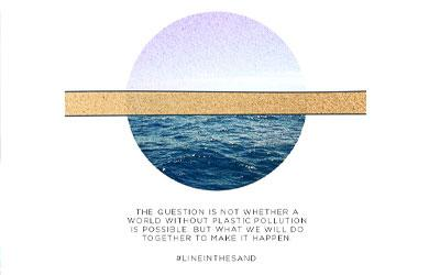 Line between the sand and sea image