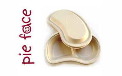 Pie Face using BioPak's biocane packaging
