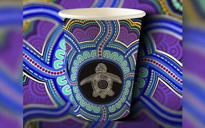 SevGen and Plastic Free Noosa's BioPak art series cup