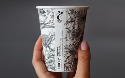 BioPak compostable art series cups