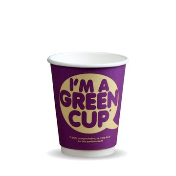 """12oz Double Wall """"I'm a Green Cup"""" Hot BioCups"""