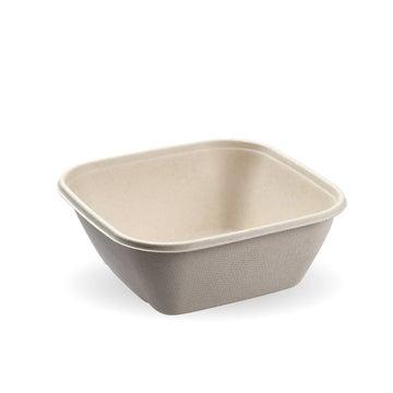 750ml BioCane Natural Pac Square Bowls