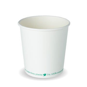 24oz White PLA-Lined Squat Soup Containers