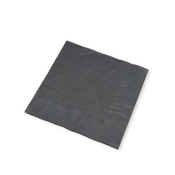 25cm 2-Ply Black Paper Cocktail Napkins