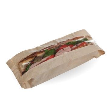 Kraft & PLA Compostable Baguette Bags