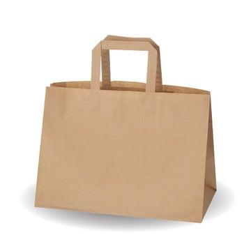 """13x9.6x6.8"""" Kraft SOS Bags"""