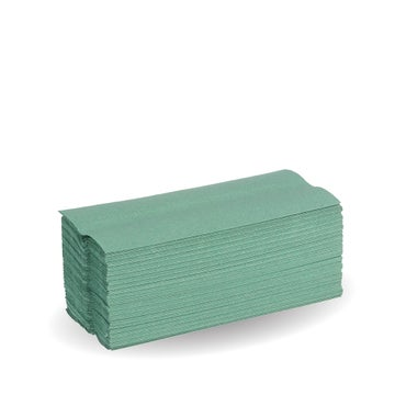 23cm Green 2-Ply CFold Hand Towels