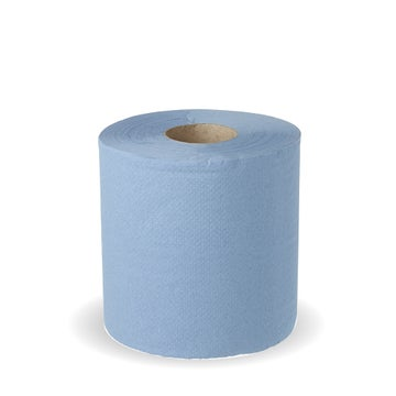 11x18cm Economy 2-Ply Centre Pull Blue Rolls | Recycled Paper Pulp