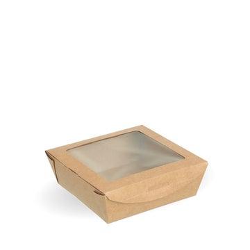 Medium Kraft PLA-Lined Window Salad Boxes
