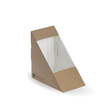 Compostable Medium BioBoard Sandwich Wedge
