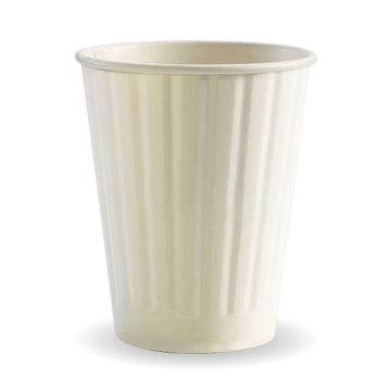 12oz White BioCup - Double Wall