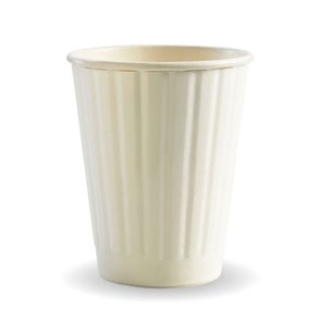 8oz White BioCup - Double Wall