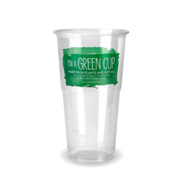 "Pint ""I'm a Green Cup"" PLA Tumbler CE Marked"