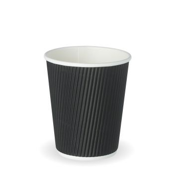 8oz Black Ripple Cup