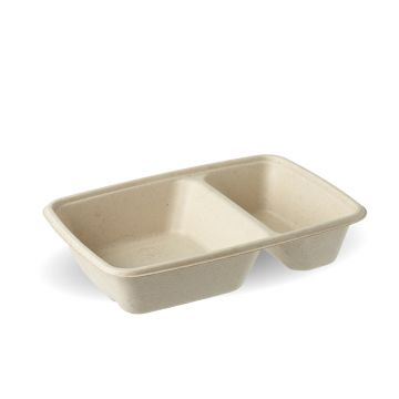 2 compartment Pulp Rectangular Trays