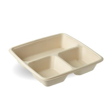 3 Compartment Square Container