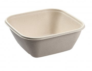 1000ml Natural Pac Square Bowls