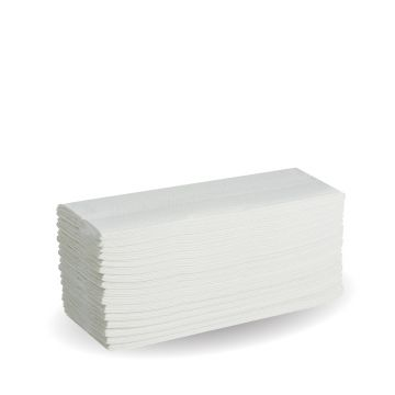 2-Ply White CFold Hand Towel