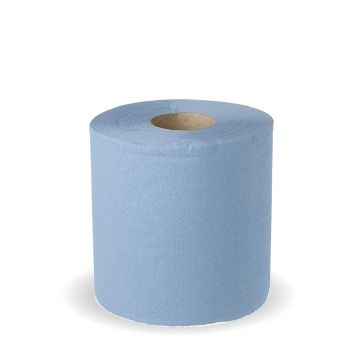 2 Ply Centre Pull Blue Roll