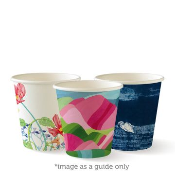 230ml / 6oz (80mm) Art Series Single Wall BioCup