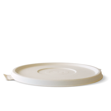 800-1,180ml / 24-40oz White BioCane Bowl Lid