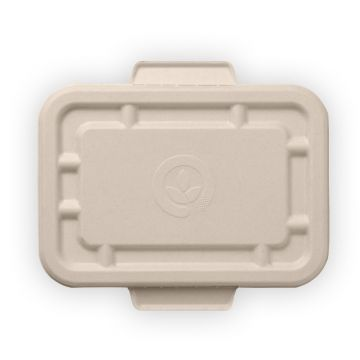 500ml & 600ml Natural BioCane Takeaway Base Lid