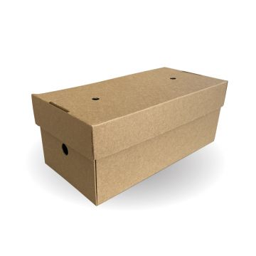 Large Premium Burger Box Kraft