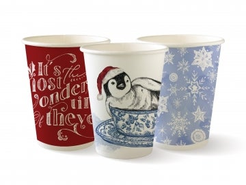 12oz Double Wall Christmas Series BioCups