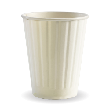 390ml / 12oz (90mm) White Double Wall BioCup