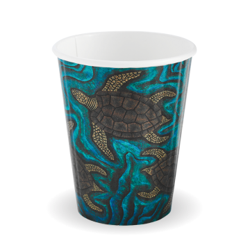 255ml / 8oz (80mm) Indigenous Art Double Wall BioCup