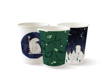 8oz Double Wall Christmas Series BioCups