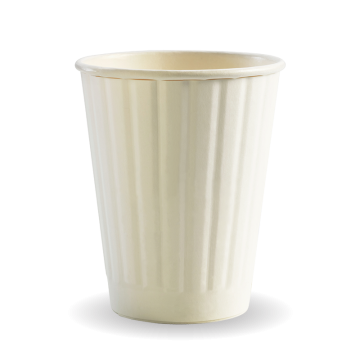 255ml / 8oz (80mm) White Double Wall BioCup