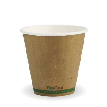 295ml / 8oz (90mm) Kraft Green Stripe Double Wall BioCup