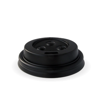 63mm PS Black Sipper 4oz Lid