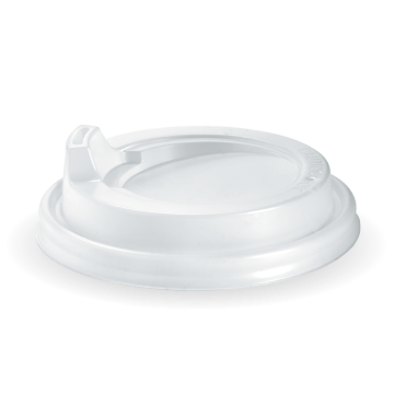 80mm PS White Small Sipper Lid