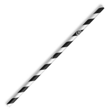 10mm Jumbo Black Stripe BioStraw