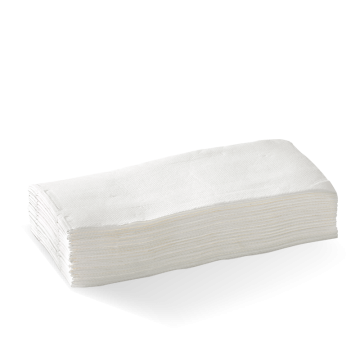 2 Ply 1/8 Fold White Quilted Dinner BioNapkin